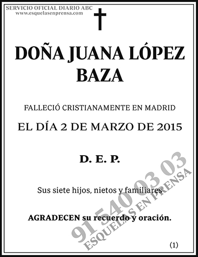 Juana López Baza
